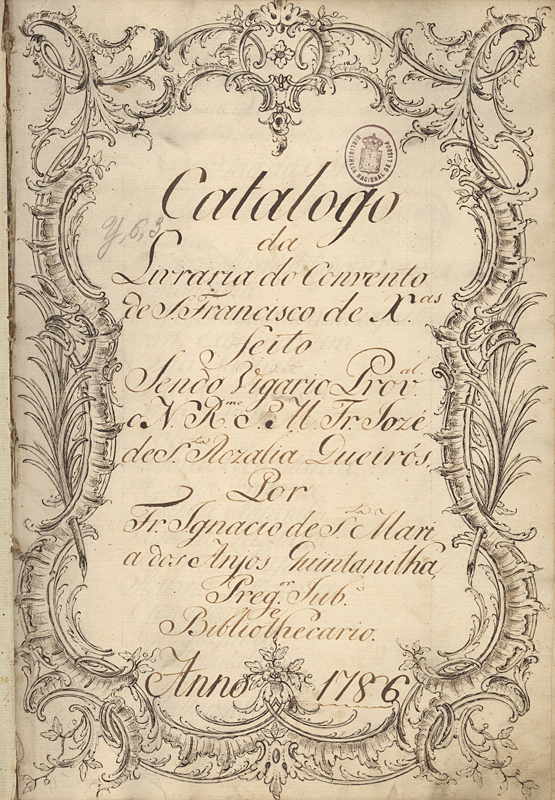 Capa de Catalogo da Livraria do Convento de S. Francisco de X.as